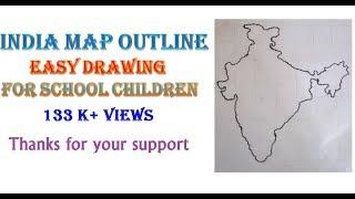 How To Draw  INDIA MAP Very Easily - VISHNU HARIDASS (10yrs old)