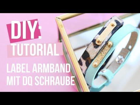 Schmuck machen: Zwischenstück mit Schrauben am Armband befestigen ♡ DIY