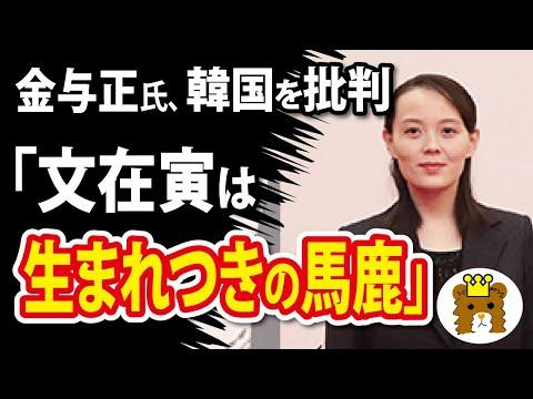 2021/03/30 金与正氏「文大統領は生まれつきの馬鹿」