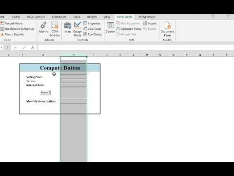 how to calculate amortization using excel vba part 1 youtube