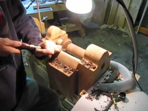 Making Chess Pieces on a Spring Pole Lathe
