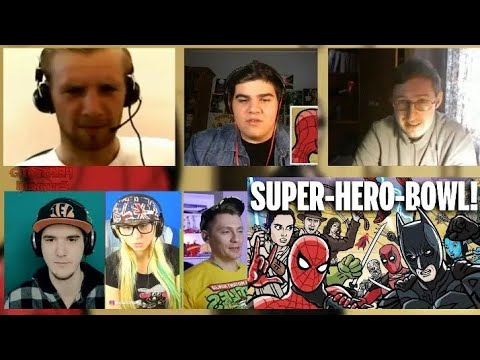 SUPER-HERO-BOWL! - TOON SANDWICH | RUSSIAN REACTION MASHUP