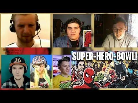 SUPER-HERO-BOWL! - TOON SANDWICH | RUSSIAN REACTION MASHUP