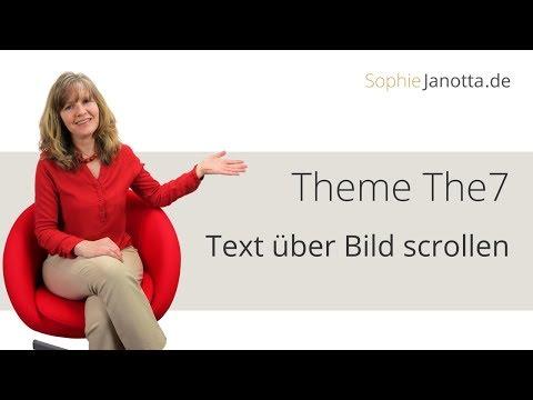Theme The 7 Deutsch - Text über Bild scrollen