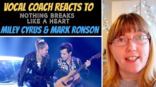 Vocal Coach Reacts To Mark Ronson Ft Miley Cyrus nothing Breaks Like A Heart