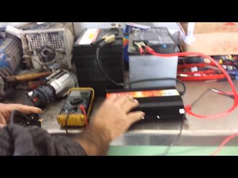 Power Inverter Battery Inverter 24V 220V 2000W  JUNK