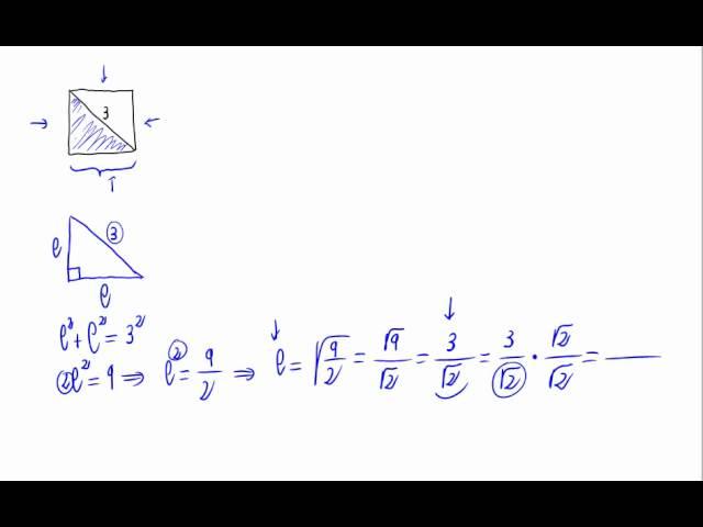 área De Un Cuadrado Conocida Su Diagonal Youtube