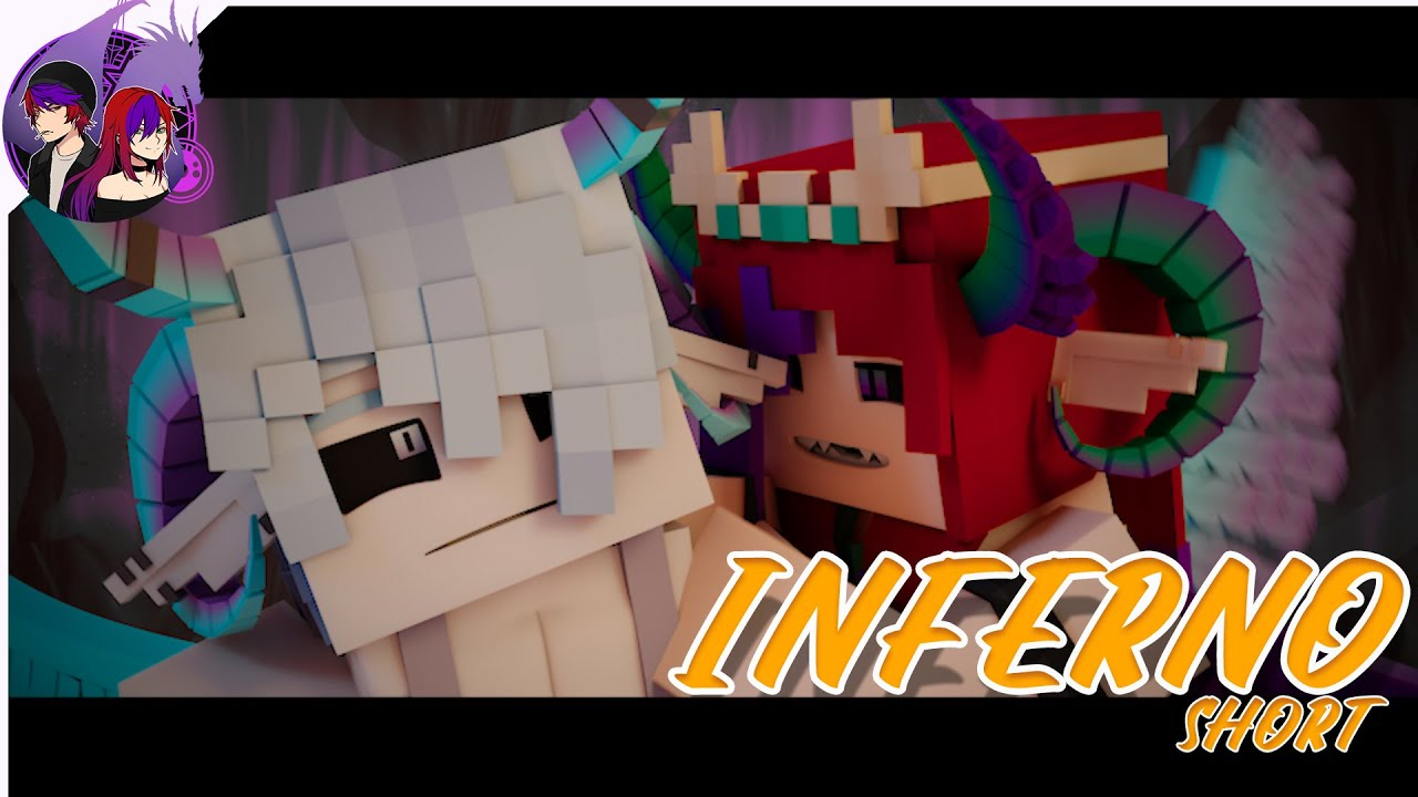 """""""Inferno""""  Minecraft Animation (Song by Sub Urban & Bella Poarch) #shorts"""