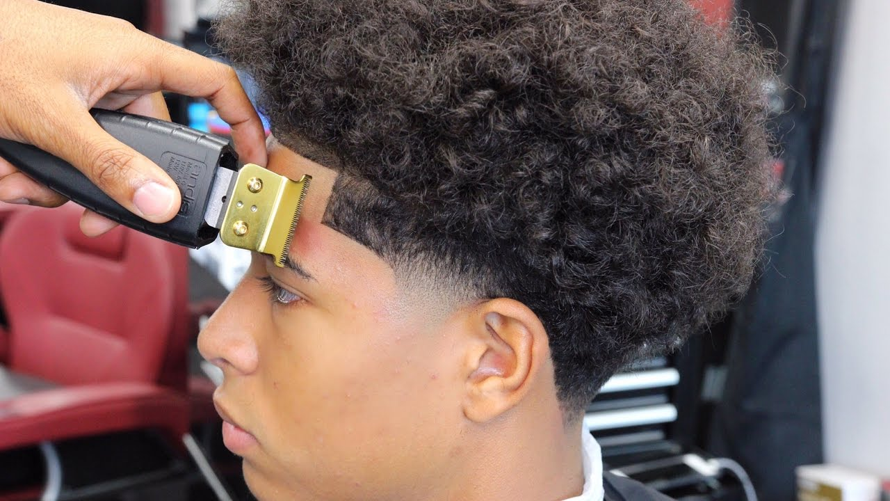 Haircut Tutorial Taper With Long Curly Hair Youtube