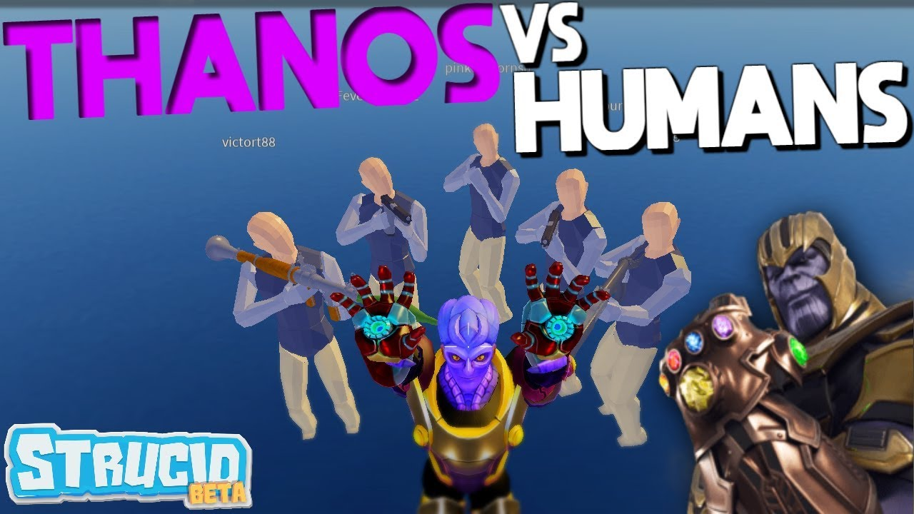 Thanos VS Humans In Strucid *SHOCKING* - YouTube