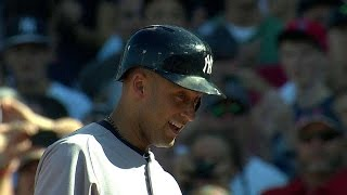 Download Derek Jeter exits to an ovation after final at-bat at Fenway Park Mp3 and Videos