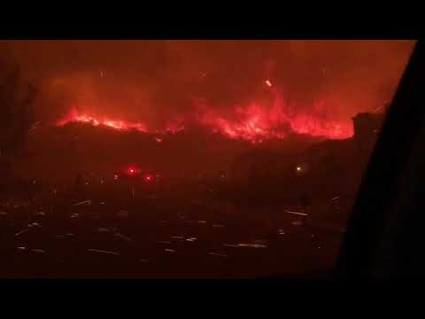 (Unreal Footage)!Woolsey Fire Going Off And Destroyed Oak Park High School !