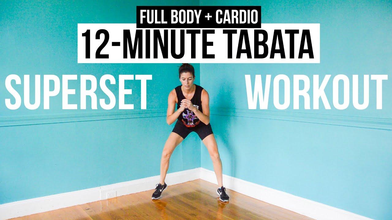 12-Minute Full-Body + Cardio HIIT Workout - 3 Tabata ...