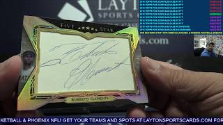 2018 Topps Five Star Baseball 8 Box Case Break #5 WOW! CLEMENTE CUT AUTO 1/1!