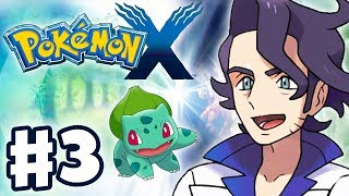 Pokemon X and Y - Gameplay Walkthrough Part 3 - Professor Sycamore Battle (Nintendo 3DS)