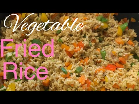 How to make Vegetable fried rice. Vegan fried Rice