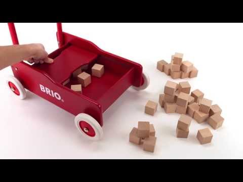 BRIO Toddler Wobbler 50 Blocks 30479 - Gåvogn med 50 klosser