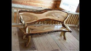 Лавки из дерева ручной работы - wooden bench handmade