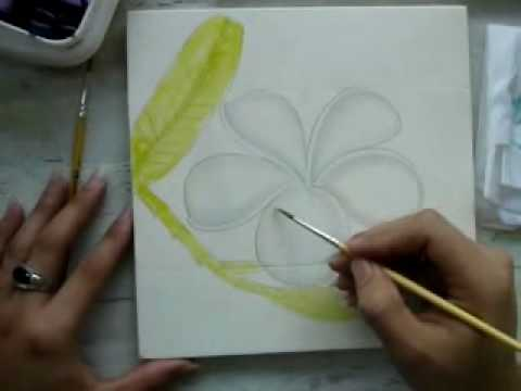 Paint Plumeria Part 1