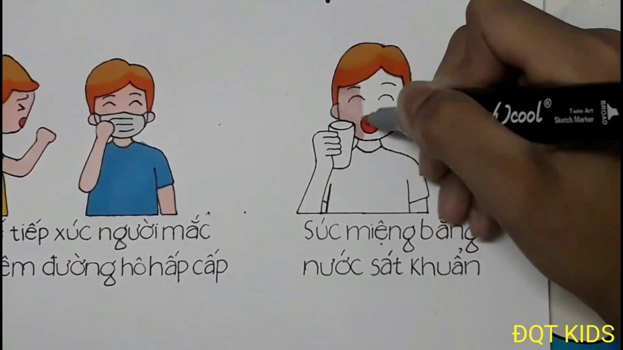 Vẽ Tranh phòng chống bệnh viêm đường hô hấp cấp