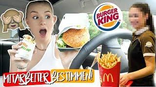 OKAYY... MITARBEITER entscheiden was ich für 24h esse! 🍔 Mc Donalds & Burger King! 😋