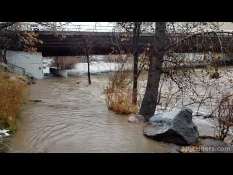 Truckee River Flooding in Reno, Nevada