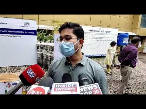 झारखंड के जमशेदपुर में Cll फाउंडेशन ने जिला प्रशासन को दिए 30 मेडिकल ऑक्सिजन सिलेंडर