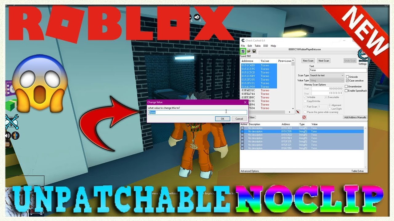 Unpatchable How To No Clip Hack On Roblox 2018 Youtube