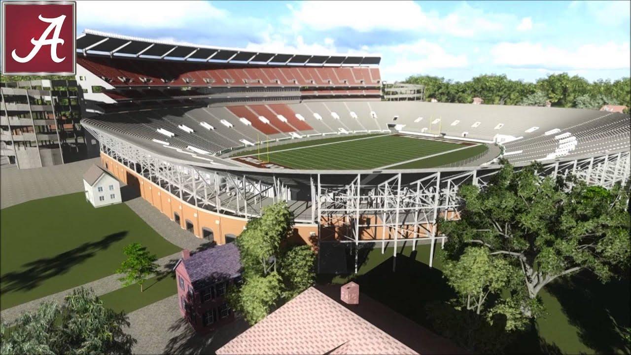 Bryant Denny Stadium Historical Animation
