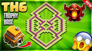 BRAND NEW BEST TOWN HALL 6 (TH6) TROPHY/DEFENCE BASE DESIGN 2018 - Clash Of Clans