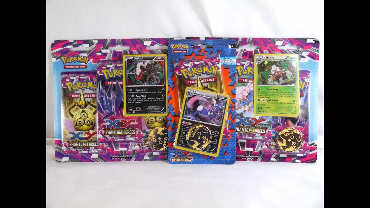 Pokemon TCG Phantom Forces Blister Pack Shiftry Promo 3 Booster Packs Coin