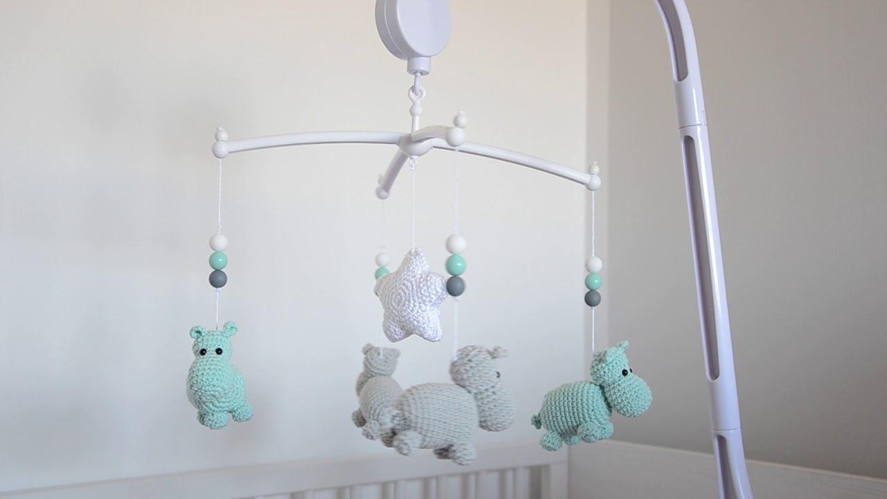 Crochet Mobile Toy Crochet Hippo Mobile Toy Amigurumi Toy   Etsy   720x1280