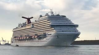 Carnival Magic Cruise Ship Departing Port Canaveral November 12 2016