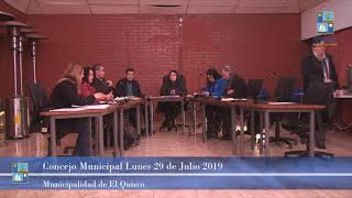Concejo Municipal Lunes 29 de Julio 2019 - El Quisco