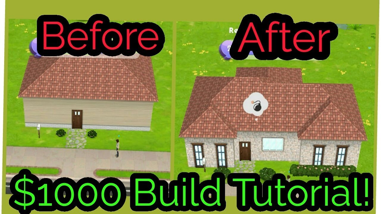 The Sims Mobile House Build Tutorial 1000 Budget Starter House
