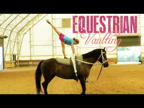 Equestrian Vaulting in an Indoor Arena!