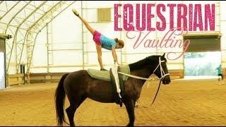Equestrian Vaulting in an Indoor Arena!