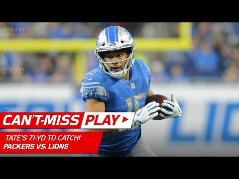 Matthew Stafford Finds Golden Tate for a 71-Yd TD Catch-