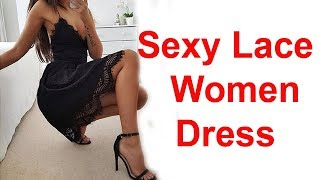 Sexy Lace Dress Women Sleeveless V Neck Loose Review