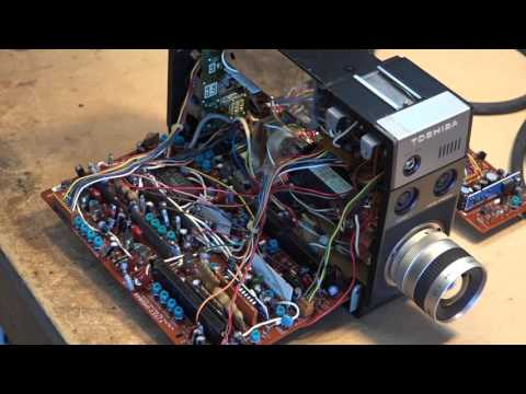 Color Tube video camera tear down and set up