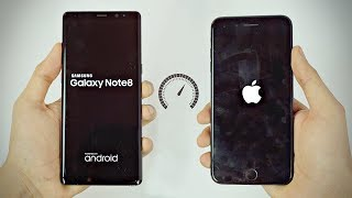 Samsung Galaxy Note 8 vs iPhone 7 Plus - Speed Test! (4K)