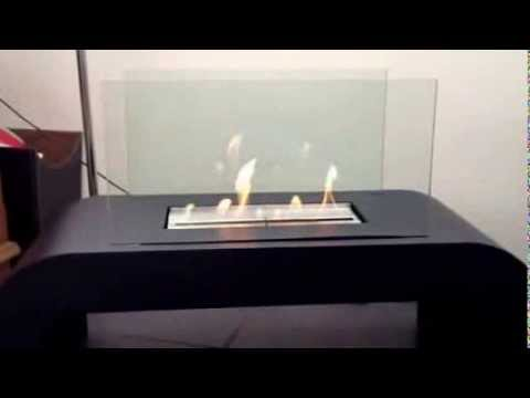 Bio ethanol fireplace owners review not gas or electric - YouTube