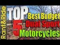 Top 5 Best dual Sport Motorcycles on a Budget