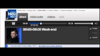 ROISSY / Intervention de M.RAEL sur FRANCE BLEU