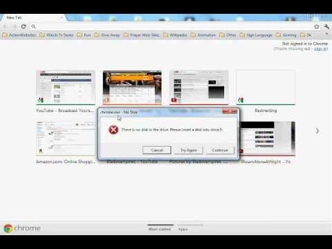 """How to fix the """" chrome.exe - No Disk """" Error Message"""