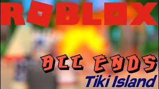 Toutes les fins dans l'île de Tiki Roblox