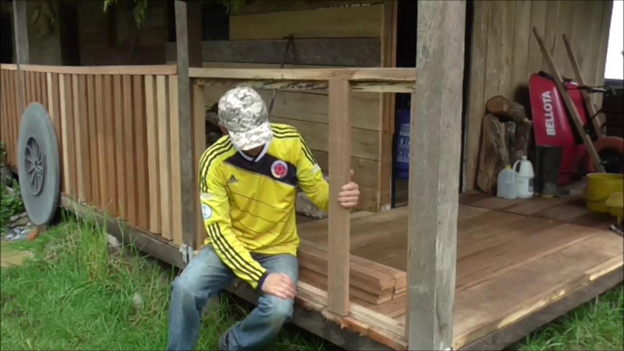 Como Hacer Una Baranda En Madera How To Make A Wooden Railing Youtube