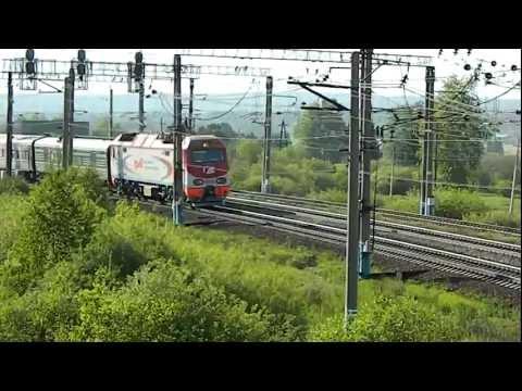 ЭП2К-002 с поездом №82 Москва - Улан-Удэ, ст.Ревда