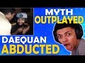 TSM DAEQUAN ABDUCTED ON STREAM | TSM MYTH OUTPLAYED | NO HUD CHALLENGE - (Fortnite Battle Royale)