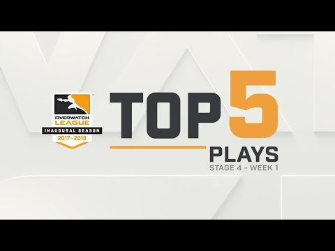 Overwatch League Top 5 Plays – Stage 4 – Week 1